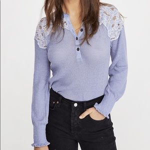 NEW! Free People | Easy Breezy Henley Thermal Top
